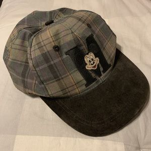 Vintage Plaid Mickey Mouse cap